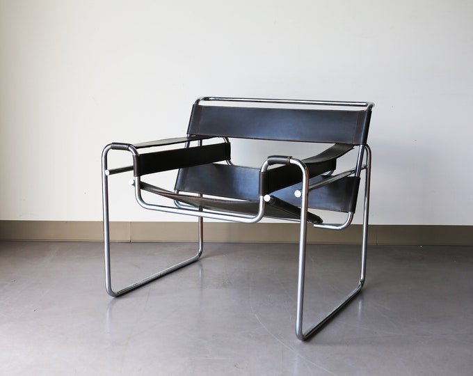 Featured listing image: Sold *** Authentic Knoll B3 by Marcel Breuer in dark brown leather
