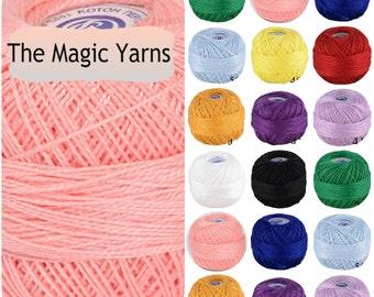 Crochet thread-Size 5,Cotton pearl, tatting cotton thread, irish crochet, mercerised cotton thread, pearl cotton thread,handgard, embrodery