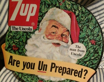 1960's store hanger for 7up
