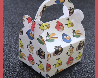 angry birds party favor box, angry birds birthday favor box, angry birds favor box
