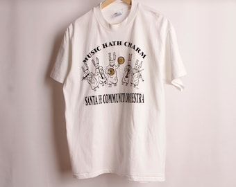 vintage SANTA FE new mexico BUNNY orchestra 90s vintage t-shirt size large