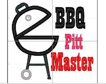 BBQ pitt master applique 5x7 6x10