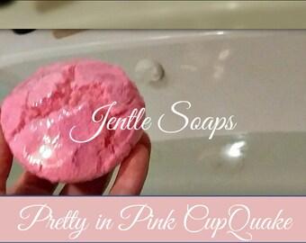 Pretty in Pink Bubble Bath Artisan CupQuake Cupcake Color Bath