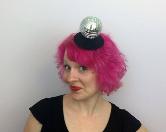 Disco Ball Fascinator, Mirror Ball Hat