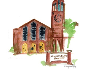 Mississippi State Chapel of Memories - Starkville, MS 8 x 10""