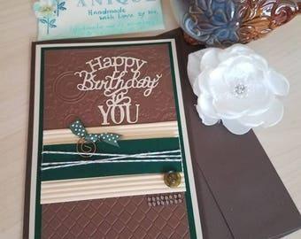 Birthday card.Handmade greeting card.Birthday greeting card.Handmade.Birthday.