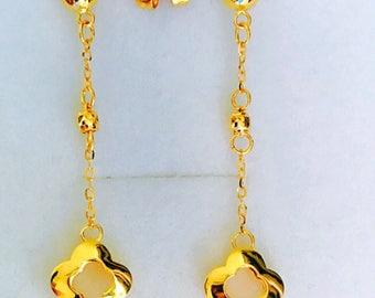 Designer dangling earrings Solid 22k gold earstuds earrings 916 gold