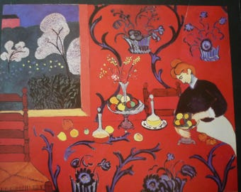Matisse - Harmony in Red - Beautiful art print - gift for artists - gift for art lovers - great gift for graduates - Matisse Red Dining Room