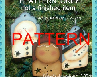 painting epattern, Snowman painting pattern, ginger painting pattern, Christmas ornament pattern, tole painting pattern, decorative painting