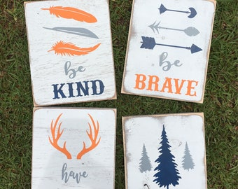 Woodland Nursery Decor / Woodland Children's Room Decor / Rustic Decor / Cabin Decor