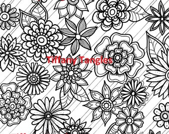 Set B - 4 Coloring Pages - Instant Download