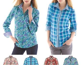 Simplicity Pattern 1538 Misses' Button Front Shirt