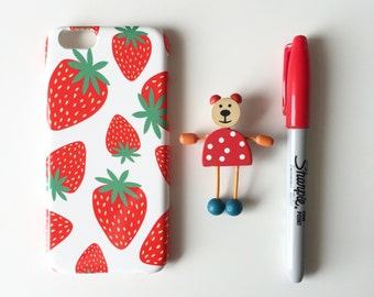 Strawberries iPhone X case / Bright iPhone 8 case / berry iPhone 7 / iPhone 8 Plus / 7 Plus / iPhone 6/6s / iPhone 5/5S/SE, Samsung Galaxy