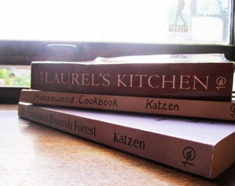 3 Cookbooks * Vegetarian Cooking * Natural Foods * Fresh * Hippie * Culinary * Berkeley * New York *1980's 90's Cookbooks