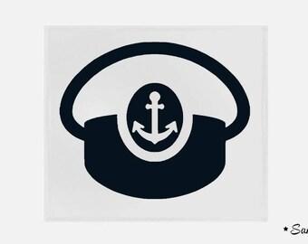 apply fusible flex Captain Hat