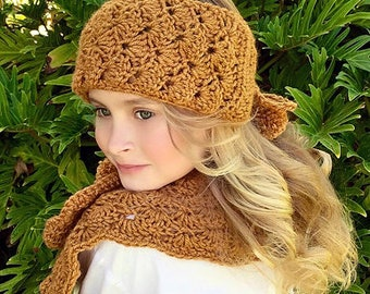 CROCHET PATTERN - Head Warmer - Neck Warmer - Hudson Warmer Set - Ava Girl Patterns