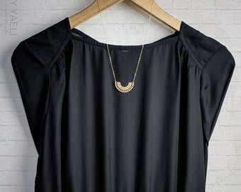 Geometric necklace circle necklace open circle necklace minimalist necklace simple necklace gold circle everyday necklace circle jewelry