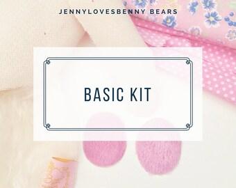 Basic teddy bear kit by Jenny Lee of Jennylovesbenny Bears - make your own bears