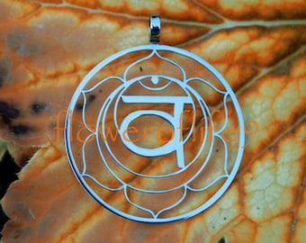 2nd Chakra pendant (1 3/8 inch) - Stainless Steel