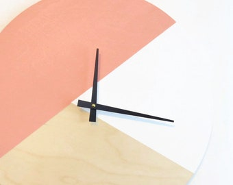 Wall Clock, Pink and White,  Housewares, Home and Living, Unique Wall  Clock