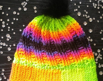 Electric Limelight Winter Hat