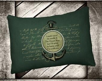 "Travel Anchor  12""x16"" Pillow Set"