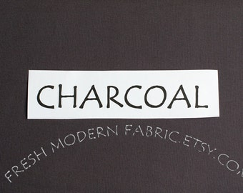 15 Inch End of Bolt Remnant Charcoal Kona Cotton Solid Fabric from Robert Kaufman, K001-1071