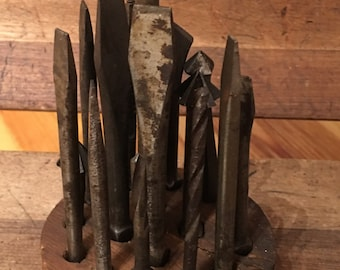 Antique Drill Bit Set - 17 pieces