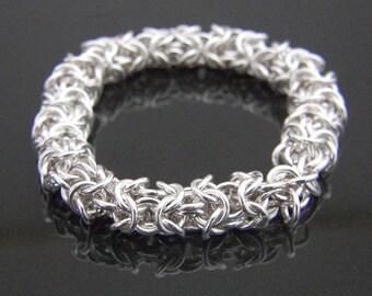 Argentium Sterling Silver Elephant Bracelet