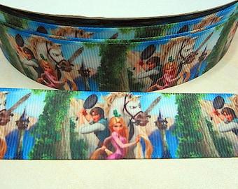 4 YDS Tangled Rapunzel Princess Ribbon **REMNANT**