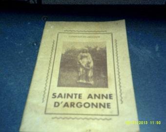 Sainte Anne D'Argonne small paperback book