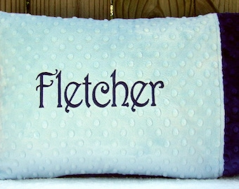 Personalize Name Toddler Pillow Case, First Birthday Gift, Custom Minky Pillow Cases, Gifts for Kids - Boy, Girl, Any Color- Pillowcase ONLY