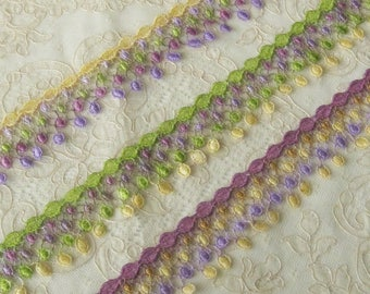 Hand Dyed Venise Lace / Emblishment - Sewing, Crafts, Costumes, Crazy Quilt, Scrapbooking