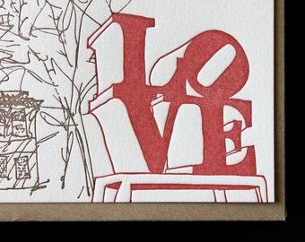 Philadelphia - eight letterpress note cards