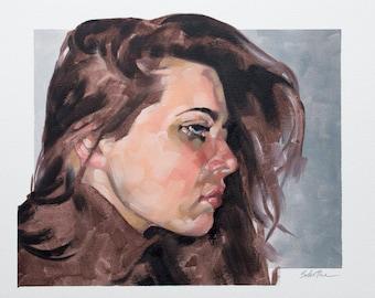 """Original Oil Painting, Figurative Fine Art Portrait Painting, Contemporary Art - """"When Autumn Comes"""""""