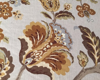 Country House Woven Floral  - Upholstery Fabric by the Yard
