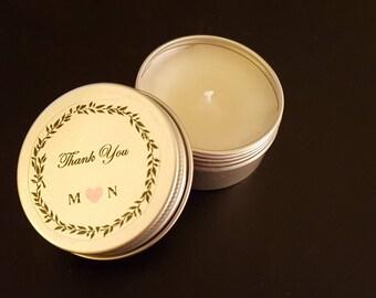 Candle wedding favors - Wedding favors for guests- Wedding candle favors - Bridesmaid gifts - Bridal shower favors - Unique favors - 1 pc