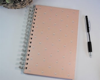 Journal, writing journal, prayer journal, spiral notebook, wire bound diary, great for bible journaling.