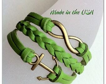 Infinity and Anchor bracelet, Charm bracelet, Friendship bracelet, Birthday Gift, Gift ideas, Gift for Her, Mothers Day Gift, Christian Gift