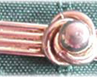 Tie Clasp with Center Knot and Ball
