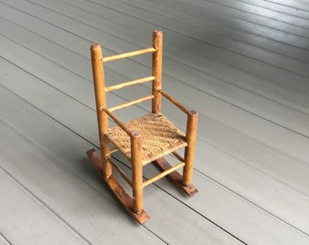 Folk Art Rocking Chair Handmade Antique Appalachian Mountains American