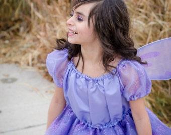 Cute girls Lavender Fairy Pixie Princess costume dress.  NEW