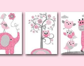 INSTANT DOWNLOAD Nursery Art Printable Art Nursery Digital Download Children Art Baby Girl Nursery Digital Download Art Set of 3 8x10 11X14
