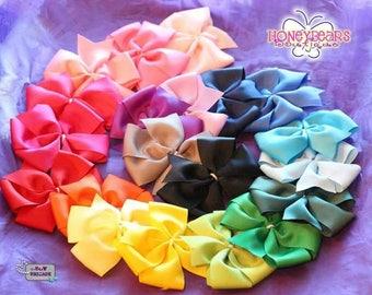 10 Pinwheel Hairbows Plain  white center wrapped cheap 1 dollar hair bows any color Please Read Description below!