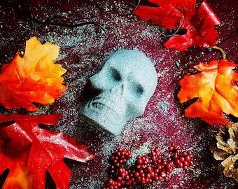 Skull Bath Bomb- Gothic Bath Bomb- Black Bath Bomb- Black Bath Fizzy- Sweet Orange Bath Bomb- Skull- Black Skull- Halloween- Goth- Gothic-