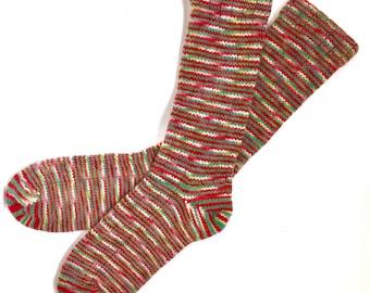 Handmade Wool Socks 427 -- Women's Size 10-12 or Men's Size 8-10