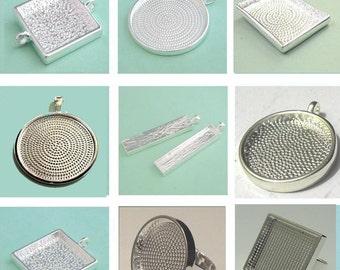 sample blank pendant  Tray 9 matching glass