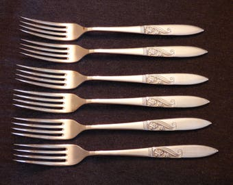 Silver plated tea forks x6