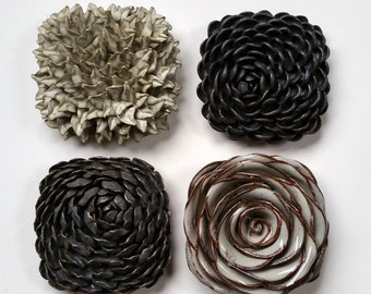 Square Wall Flowers - Set of 4