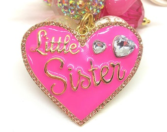 Personalized Gifts Sister - Sister Gift - Little Sister Keychain - Sister Gift Ideas - Unique Gifts for Sisters - Bridesmaid Sister Gift
